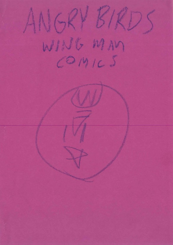 drawing of wing man comic cover