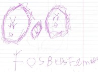 Drawing of force birds family