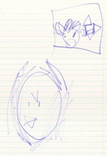 Drawing of force bird as padawan